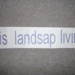 "Not how you spell ""landscape""!"